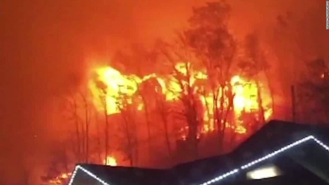 Tennessee fires blaze into third day