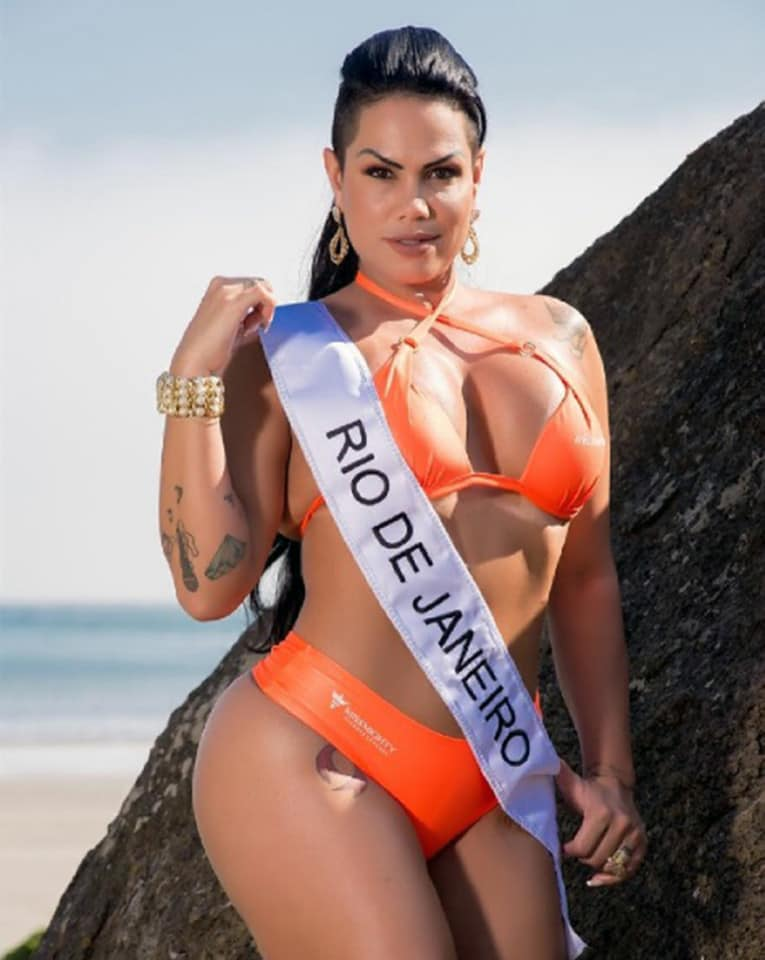 otographs of Erika Canela, from Bahia, revealed she was crowned winner after the fiercely fought contest.