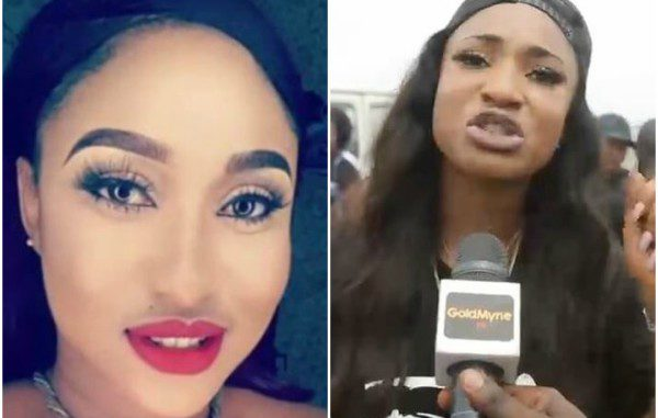 Nollywood actress, Tonto Dikeh, who was one of the big names who walked against domestic violence alongside Ooni of Ife's partner